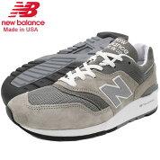 ニューバランスnewbalanceスニーカーメンズ男性用M997GY2GreyメイドインUSA(newbalanceM997GY2MadeinUSAグレー灰SNEAKERMENS・靴シューズSHOESM997-GY2)icefiledicefield