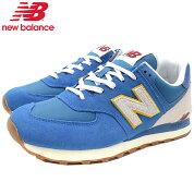ニューバランスnewbalanceスニーカーメンズ男性用ML574SCABlue(newbalanceML574SCAブルー青SNEAKERMENS・靴シューズSHOESML574-SCA)icefieldicefield