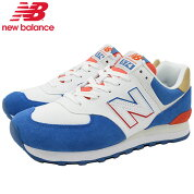 ニューバランスnewbalanceスニーカーメンズ男性用ML574SCFBlue/Red(newbalanceML574SCFブルー青SNEAKERMENS・靴シューズSHOESML574-SCF)icefieldicefield