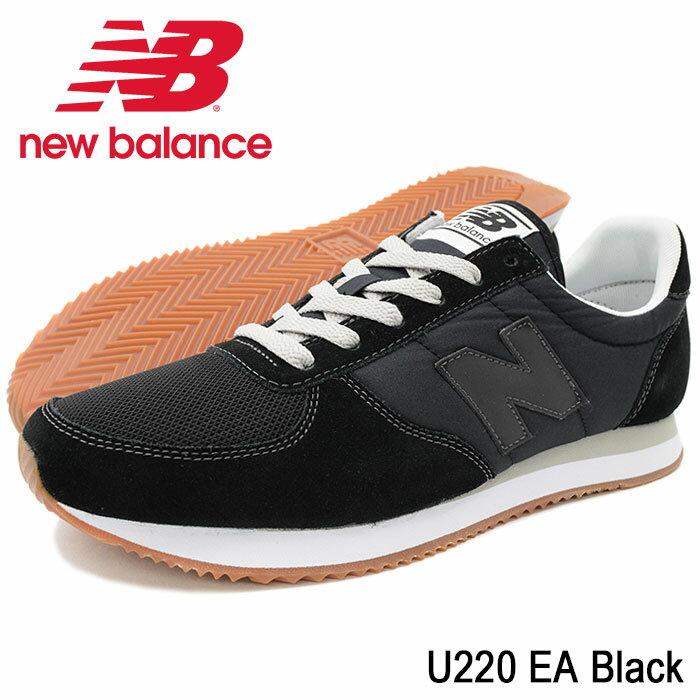 ニューバランス new balance スニーカー メンズ 男性用 U220 EA Black(newbalance U220 EA ブラック 黒 SNEAKER MENS・靴 シューズ SHOES U220-EA)