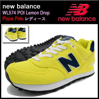 新平衡new balance运动鞋WL574 POI Lemon Drop纠察队马球女士(女性用)(NEWBALANCE WL574 POI柠檬糖果Pique Polo Sneaker LADIES、鞋鞋SHOES运动鞋WL574-POI)ice filed icefield