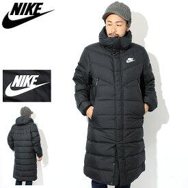ナイキ NIKE ジャケット メンズ フィル ダウン ウインドランナー コート ( nike Fill Down Windrunner Coat ダウンコート ダウンジャケット ベンチコート フード ロング JACKET JAKET アウター メンズ 男性用 AA8854 )