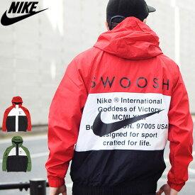 ナイキ NIKE ジャケット メンズ スウッシュ ウーブン フーディ ( nike Swoosh Woven Hoodie JKT スウォッシュ ナイロンジャケット JACKET JAKET アウター ジャンパー・ブルゾン メンズ 男性用 CJ4889 )