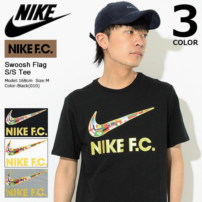 ナイキ NIKE Tシャツ 半袖 メンズ FC スウッシュ フラッグ(nike FC Swoosh Flag S/S Tee スウォッシュ ティーシャツ T-SHIRTS カットソー トップス メンズ 男性用 メンズ 男性用 911401)[M便 1/1]