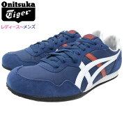 オニツカタイガーOnitsukaTigerスニーカーレディース&メンズセラーノIndependenceBlue/White(OnitsukaTigerSERRANOネイビー紺SNEAKERLADIESMENS・靴シューズSHOES1183A237-400)