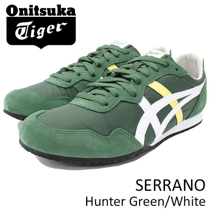 オニツカタイガー Onitsuka Tiger スニーカー メンズ 男性用 セラーノ Hunter Green/White(Onitsuka Tiger SERRANO グリーン 緑 SNEAKER MENS・靴 シューズ SHOES D109L-300 TH109L-300)