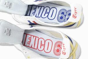 オニツカタイガーOnitsukaTigerスニーカーメンズ男性用メキシコ66White/DarkBlue(OnitsukaTigerMEXICO66ホワイト白SNEAKERMENS・靴シューズSHOESD507L-0152)