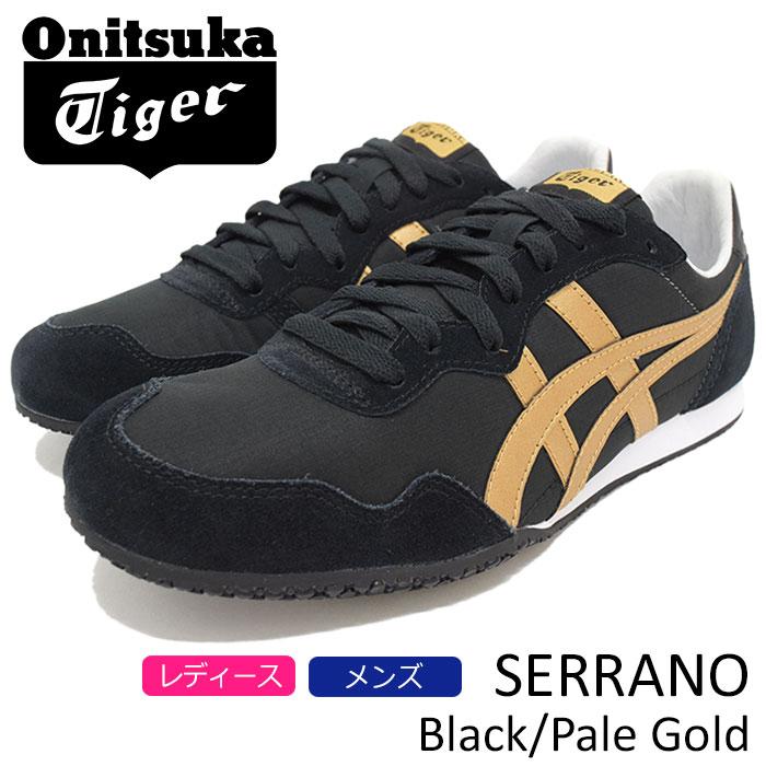 オニツカタイガー Onitsuka Tiger スニーカー レディース & メンズ セラーノ Black/Pale Gold(Onitsuka Tiger SERRANO ブラック 黒 SNEAKER LADIES MENS・靴 シューズ SHOES D7B3L-9094)