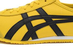 オニツカタイガーOnitsukaTigerスニーカーレディース&メンズメキシコ66Yellow/Black(OnitsukaTigerMEXICO66イエロー黄SNEAKERLADIESMENS・靴シューズSHOESDL408-0490)