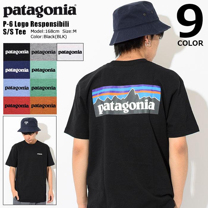 パタゴニア Patagonia Tシャツ 半袖 メンズ P-6 ロゴ レスポンシビリティー(Patagonia P-6 Logo Responsibili S/S Tee ティーシャツ T-SHIRTS カットソー トップス アウトドア USAモデル 39174)[M便 1/1] ice filed icefield