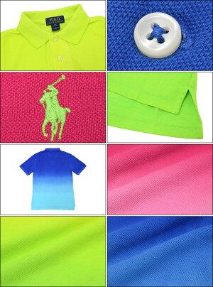 ポロラルフローレンPOLORALPHLAURENポロシャツ半袖ボーイズモデルレディース・メンズ対応サイズグラデーションコットン(ralphlaurenPoloトップスポロ・シャツ323605589)
