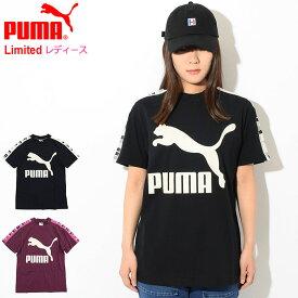 プーマ PUMA Tシャツ 半袖 レディース リボルト 限定(PUMA Revolt S/S Tee Womens Limited ティーシャツ T-SHIRTS カットソー トップス レディース ウィメンズ 女性用 578685)[M便 1/1] ice filed icefield