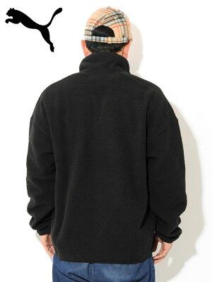 プーマPUMAジャケットメンズウィンタークラシックスハーフジップフリース限定(PUMAWinterClassicsHalfZipFleeceJKTLimitedビッグシルエットオーバーサイズプルオーバーJACKETJAKETアウターメンズ男性用597865)
