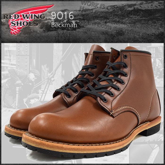 レッドウィング RED WING 9016 6インチ ラウンドトゥ ブーツ 茶 レザー MADE IN USA ベックマン メンズ(男性 紳士用)(red wing REDWING レッド ウィング ウイング BOOTS boots レッドウイング レッド・ウィング ワーク ブーツ 靴・ブーツ)