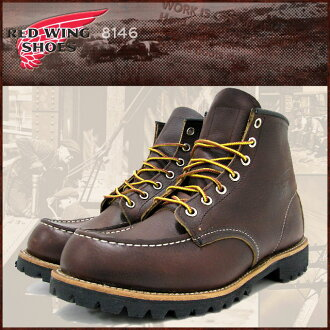 Redwing RED WING 8146 6 inch moccasin to boots brown leather MADE IN USA Caterpillar Saul men (men for men) (red wing REDWING Red Wing wing BOOTS boots Red Wing Red-Wing work boots shoes & boots)