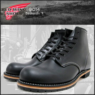 9014 6 inches of red wing RED WING round toe boots black leather MADE IN USA Beckman Instruments men (male men's )(red wing REDWING red wing wing BOOTS boots redwing red wing work boots shoes, boots)