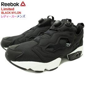 リーボック Reebok スニーカー レディース & メンズ インスタポンプ フューリー OG MU Black/White 限定 ( reebok INSTAPUMP FURY OG MU Limited BLACK NYLON ブラック 黒 ポンプフューリー SNEAKER LADIES MENS・靴 シューズ SHOES DV6985 )