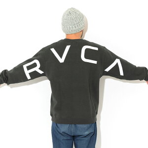 ルーカRVCAトレーナーメンズフェイククルースウェット(RVCAFakeCrewSweatスエットトレナートレイナートップスメンズ男性用BB042-003)icefieldicefield