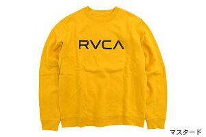 ルーカRVCAトレーナーメンズビッグルーカクルースウェット(RVCABigRVCACrewSweatスエットトレナートレイナートップスメンズ男性用AJ042-001)icefiledicefield
