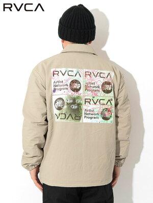 ルーカRVCAジャケットメンズセリグラフコーチジャケット(RVCASerigraphCoachesJKTビッグシルエットオーバーサイズナイロンジャケットJACKETJAKETアウタージャンパー・ブルゾンメンズ男性用AJ042-763)