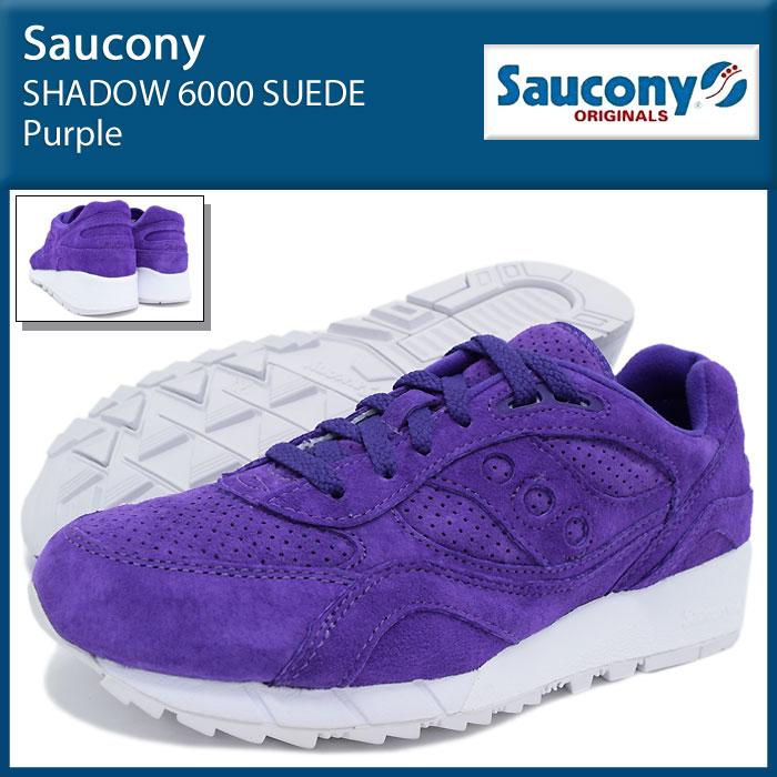 サッカニー Saucony スニーカー メンズ 男性用 シャドウ 6000 スエード Purple(SAUCONY S70222-3 SHADOW 6000 SUEDE シャドー ローカット パープル 紫 SNEAKER MENS・靴 シューズ SHOES)