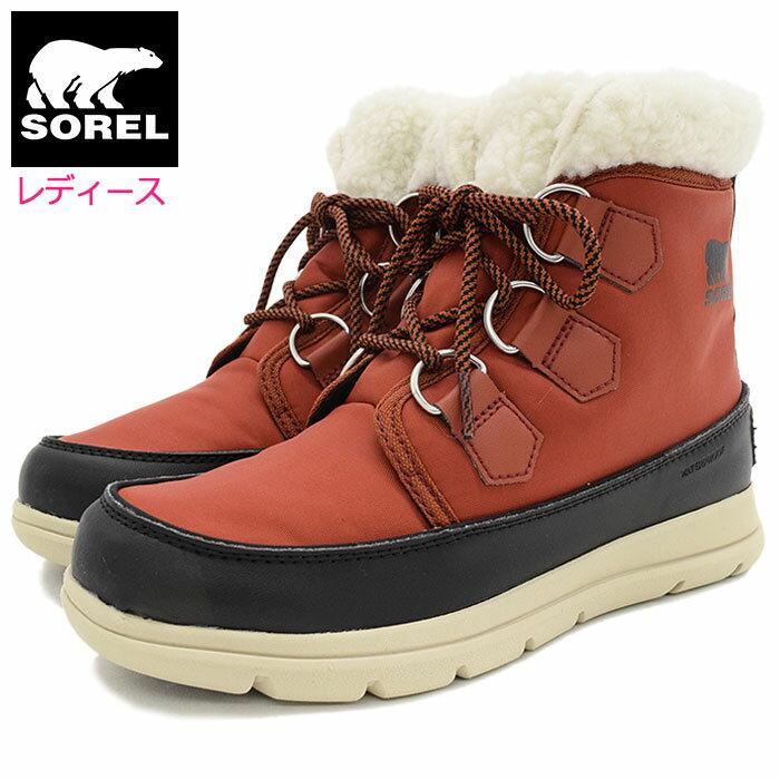 ソレル SOREL ブーツ レディース 女性用 ソレル エクスプローラー カーニバル Rusty/Black ウィメンズ(Sorel SOREL EXPLORER CARNIVAL WOMENS 防水 Boot Boots スノー・ブーツ ウィンター・ブーツ 靴・ブーツ Ladys レッド 赤 NL3040-808)