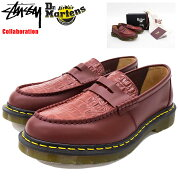 ステューシーSTUSSYシューズメンズ男性用ドクターマーチンペントンローファーCherryRedコラボ(stussy×Dr.MartensPentonLoaferMadeinEnglandShoes靴24359600USAモデル正規品ステューシー×ドクターマーチン)