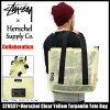 suteyushi STUSSY大手提包Herschel Clear Yellow Tarpaulin协作(STUSSY×Herschel tote bag大手提包挎包赫谢W姓名人分歧D男女两用男女兼用134129二海洋朱熹小东西)05P05Nov16