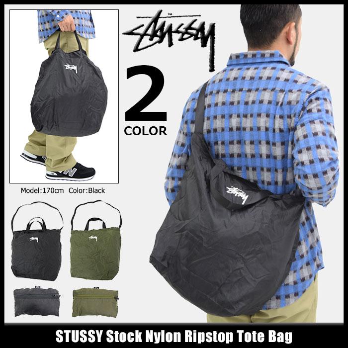 ステューシー STUSSY トートバッグ Stock Nylon Ripstop(stussy tote bag トート バッグ メンズ レディース ユニセックス 男女兼用 134172 USAモデル 正規 品 ストゥーシー スチューシー 小物) ice filed icefield