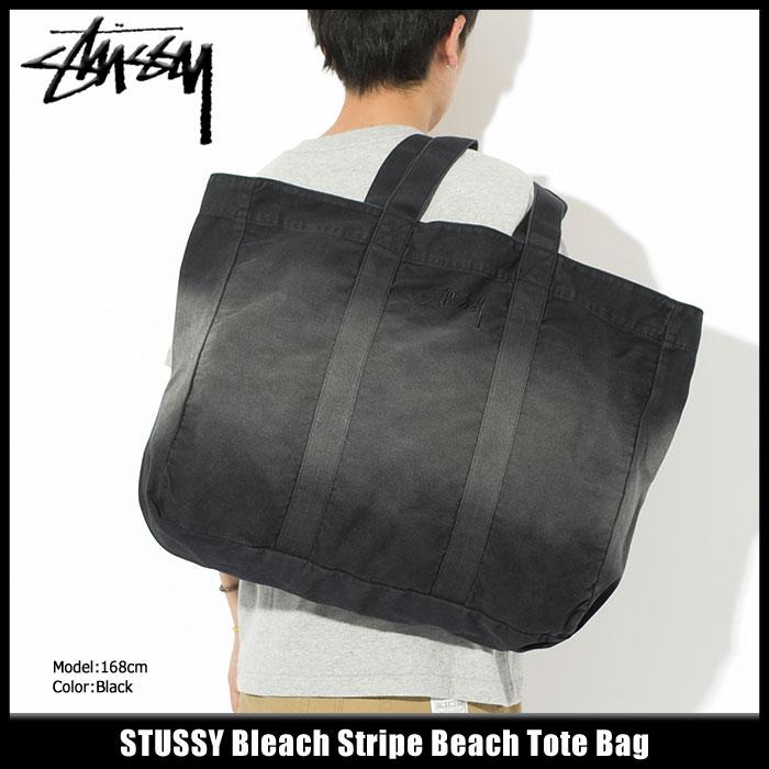 ステューシー STUSSY トートバッグ Bleach Stripe Beach(stussy tote bag トート バッグ メンズ レディース ユニセックス 男女兼用 134178 USAモデル 正規 品 ストゥーシー スチューシー 小物) ice filed icefield