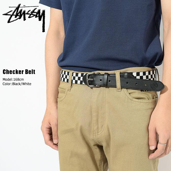 ステューシー STUSSY ベルト メンズ Checker(stussy belt チェッカー チェック メンズ・男性用 135148 ストゥーシー スチューシー 小物)