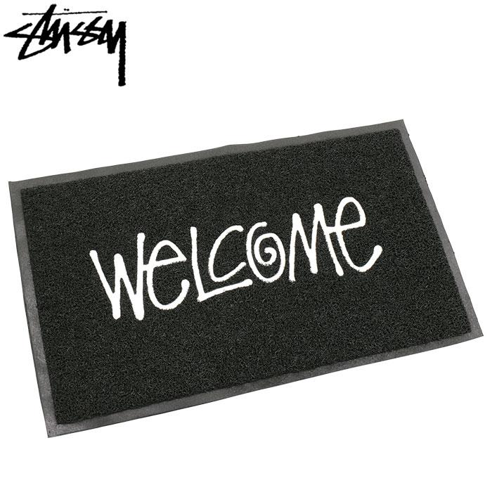 ステューシー STUSSY マット メンズ PVC Welcome(stussy mat 玄関マット メンズ・男性用 138493 USAモデル 正規 品 ストゥーシー スチューシー 小物)