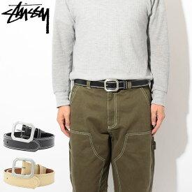 ステューシー STUSSY ベルト メンズ Contrast Stitch Leather(stussy belt レザーベルト メンズ・男性用 135154 USAモデル 正規 品 ストゥーシー スチューシー) ice filed icefield