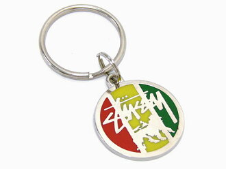 STUSSY(suteyushi)Stock Lion Key Ring ice filed icefield