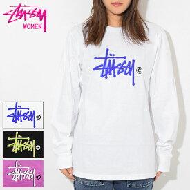 ステューシー STUSSY Tシャツ 長袖 レディース WOMEN Basic Logo(stussy tee ティーシャツ トップス ロンティー ロンt ガールズ ウーマンズ 女性用 ビッグシルエット オーバーサイズ 2992599 USAモデル 正規 品 ストゥーシー スチューシー)