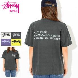 ステューシー STUSSY Tシャツ 半袖 レディース WOMEN American Classics Pigment Dyed(stussy tee ピグメント ティーシャツ カットソー トップス ガールズ ウーマンズ Ladys 2903011 USAモデル 正規 品 ストゥーシー スチューシー)[M便 1/1]