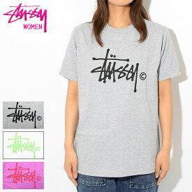 ステューシー STUSSY Tシャツ 半袖 レディース WOMEN Basic Logo(stussy tee ティーシャツ T-SHIRTS カットソー トップス ガールズ ウーマンズ ウィメンズ Ladys WOMENS 女性用 2903016 USAモデル 正規 品 ストゥーシー スチューシー)[M便 1/1]