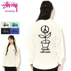 ステューシー STUSSY Tシャツ 長袖 レディース WOMEN Peace Pot Pigment Dyed ( ピグメント ティーシャツ カットソー トップス ロンティー ロンt ガールズ ウーマンズ ウィメンズ 女性用 2992662 USAモデル 正規 品 ストゥーシー スチューシー )
