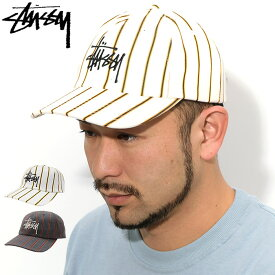 ステューシー STUSSY キャップ 帽子 Big Logo Striped Low Pro Cap ( ローキャップ ストラップバック メンズ・男性用 131926 USAモデル 正規 品 ストゥーシー スチューシー ) ice field icefield