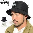 ステューシー STUSSY バケット ハット Big Logo Bucket Hat 帽子(stussyhat メンズ・男性用 132942 USAモデル 正規 品…