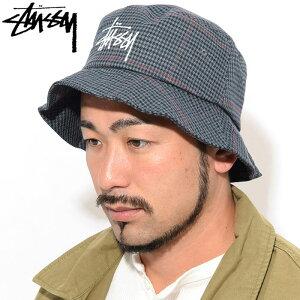 ステューシーSTUSSYバケットハットBigLogoCheckBucketHat帽子(stussyhatメンズ・男性用132943USAモデル正規品ストゥーシースチューシー)icefiledicefield