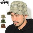 ステューシー STUSSY バケット ハット Big Logo Plaid Bucket Hat 帽子 ( stussyhat メンズ・男性用 132994 USAモデル…