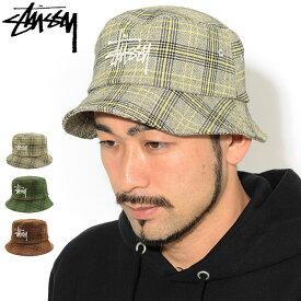 ステューシー STUSSY バケット ハット Big Logo Plaid Bucket Hat 帽子 ( stussyhat メンズ・男性用 132994 USAモデル 正規 品 ストゥーシー スチューシー )[M便 1/1] ice field icefield