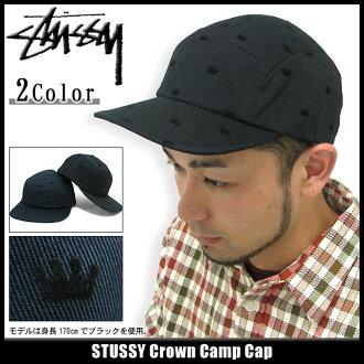 suteyushi STUSSY盖子Crown Camp盖子(供stussy cap盖子人、男性使用的帽子bousi 132470 Stussy stussy二海洋朱熹)ice filed icefield
