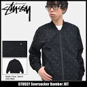ステューシー STUSSY ジャケット メンズ Seersucker Bomber(stussy JKT ボンバージャケット ミリタリージャケット JAC…
