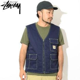 ステューシー STUSSY ジャケット メンズ Poly Cotton Work(stussy Vest ベスト ワークベスト JACKET JAKET アウター ジャンパー・ブルゾン メンズ・男性用 115439 USAモデル 正規 品 ストゥーシー スチューシー)