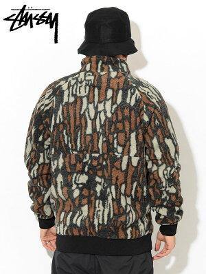 ステューシーSTUSSYジャケットメンズTreeBarkFleece(stussyJKTフリースジャケットJACKETアウタージャンパー・ブルゾンメンズ・男性用118341USAモデル正規品ストゥーシースチューシー)icefiledicefield