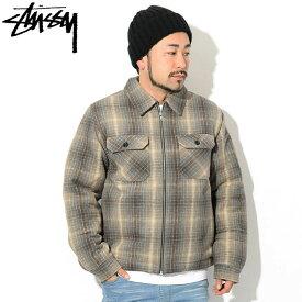 ステューシー STUSSY ジャケット メンズ Heavy Brushed Plaid Zip Up Shirt ( stussy JKT チェック フルジップ シャツジャケット JACKET JAKET アウター ジャンパー・ブルゾン メンズ・男性用 1110084 USAモデル 正規 品 ストゥーシー スチューシー ) ice field icefield