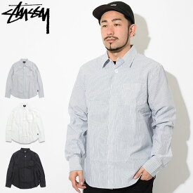 ステューシー STUSSY シャツ 長袖 メンズ Classic Hidden Button ( stussy shirt カジュアルシャツ トップス メンズ・男性用 1110040 USAモデル 正規 品 ストゥーシー スチューシー )