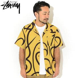 ステューシー STUSSY シャツ 半袖 メンズ Tribal Pattern ( stussy shirt オープンカラーシャツ カジュアルシャツ トップス メンズ 男性用 1110110 USAモデル 正規 品 ストゥーシー スチューシー ) ice field icefield